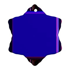 Blue Fractal Square Button Snowflake Ornament (two Sides) by Simbadda