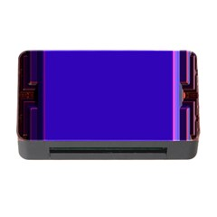 Blue Fractal Square Button Memory Card Reader With Cf by Simbadda