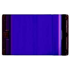 Blue Fractal Square Button Apple Ipad 2 Flip Case by Simbadda