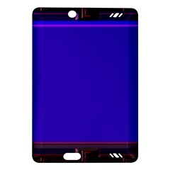 Blue Fractal Square Button Amazon Kindle Fire Hd (2013) Hardshell Case by Simbadda