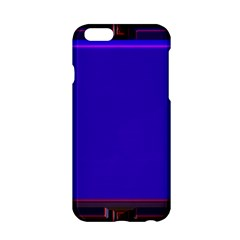 Blue Fractal Square Button Apple Iphone 6/6s Hardshell Case by Simbadda