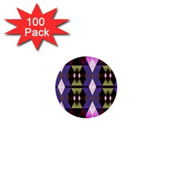 Geometric Abstract Background Art 1  Mini Buttons (100 Pack)  by Simbadda