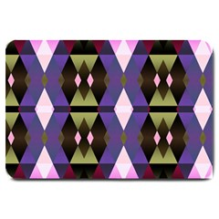 Geometric Abstract Background Art Large Doormat