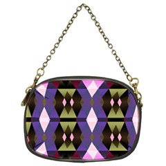 Geometric Abstract Background Art Chain Purses (two Sides)  by Simbadda