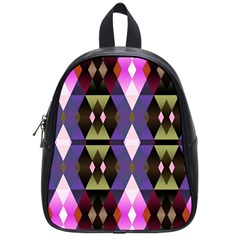 Geometric Abstract Background Art School Bags (small)  by Simbadda