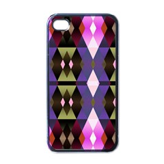 Geometric Abstract Background Art Apple Iphone 4 Case (black) by Simbadda