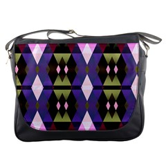Geometric Abstract Background Art Messenger Bags by Simbadda