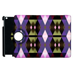 Geometric Abstract Background Art Apple Ipad 2 Flip 360 Case by Simbadda