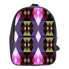 Geometric Abstract Background Art School Bags (XL)  by Simbadda
