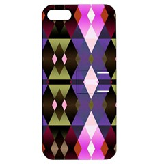 Geometric Abstract Background Art Apple Iphone 5 Hardshell Case With Stand by Simbadda