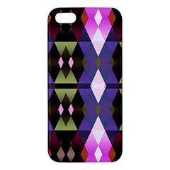 Geometric Abstract Background Art Apple Iphone 5 Premium Hardshell Case by Simbadda