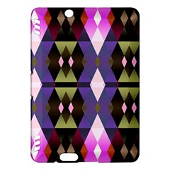 Geometric Abstract Background Art Kindle Fire Hdx Hardshell Case by Simbadda