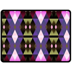 Geometric Abstract Background Art Double Sided Fleece Blanket (large)  by Simbadda