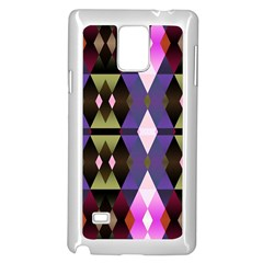 Geometric Abstract Background Art Samsung Galaxy Note 4 Case (white) by Simbadda