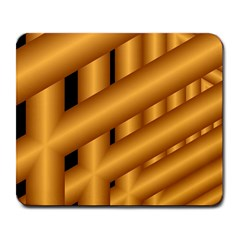 Fractal Background With Gold Pipes Large Mousepads