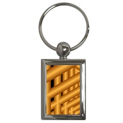 Fractal Background With Gold Pipes Key Chains (rectangle)  by Simbadda