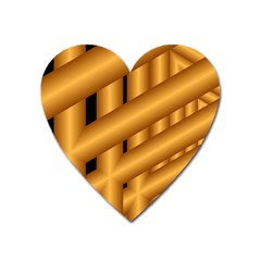 Fractal Background With Gold Pipes Heart Magnet by Simbadda
