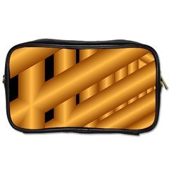 Fractal Background With Gold Pipes Toiletries Bags by Simbadda