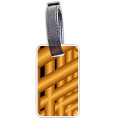 Fractal Background With Gold Pipes Luggage Tags (one Side)  by Simbadda