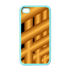 Fractal Background With Gold Pipes Apple Iphone 4 Case (color) by Simbadda