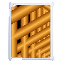 Fractal Background With Gold Pipes Apple iPad 2 Case (White)