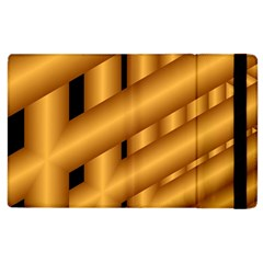Fractal Background With Gold Pipes Apple Ipad 3/4 Flip Case by Simbadda