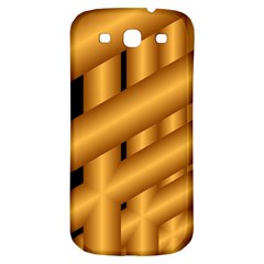 Fractal Background With Gold Pipes Samsung Galaxy S3 S Iii Classic Hardshell Back Case by Simbadda