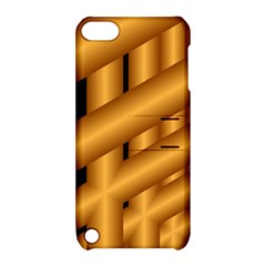 Fractal Background With Gold Pipes Apple Ipod Touch 5 Hardshell Case With Stand by Simbadda