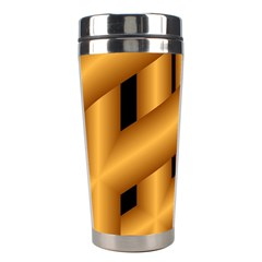 Fractal Background With Gold Pipes Stainless Steel Travel Tumblers by Simbadda