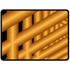 Fractal Background With Gold Pipes Double Sided Fleece Blanket (large)  by Simbadda