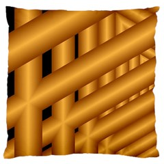 Fractal Background With Gold Pipes Standard Flano Cushion Case (one Side) by Simbadda