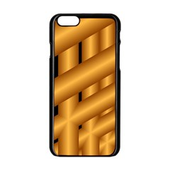 Fractal Background With Gold Pipes Apple Iphone 6/6s Black Enamel Case by Simbadda