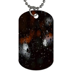Lights And Drops While On The Road Dog Tag (two Sides) by Simbadda