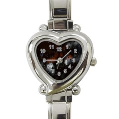 Lights And Drops While On The Road Heart Italian Charm Watch by Simbadda