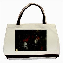 Lights And Drops While On The Road Basic Tote Bag by Simbadda