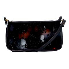 Lights And Drops While On The Road Shoulder Clutch Bags by Simbadda