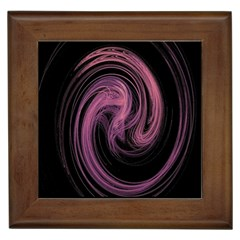 A Pink Purple Swirl Fractal And Flame Style Framed Tiles by Simbadda