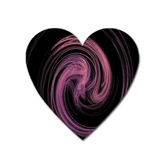 A Pink Purple Swirl Fractal And Flame Style Heart Magnet by Simbadda