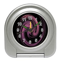 A Pink Purple Swirl Fractal And Flame Style Travel Alarm Clocks by Simbadda