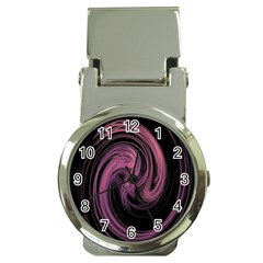 A Pink Purple Swirl Fractal And Flame Style Money Clip Watches by Simbadda