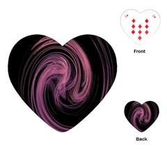 A Pink Purple Swirl Fractal And Flame Style Playing Cards (heart)  by Simbadda