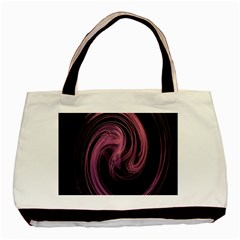 A Pink Purple Swirl Fractal And Flame Style Basic Tote Bag by Simbadda