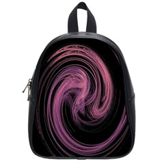 A Pink Purple Swirl Fractal And Flame Style School Bags (small)  by Simbadda