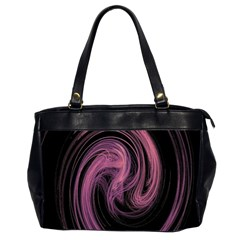 A Pink Purple Swirl Fractal And Flame Style Office Handbags (2 Sides)  by Simbadda