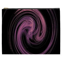 A Pink Purple Swirl Fractal And Flame Style Cosmetic Bag (xxxl)  by Simbadda