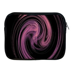 A Pink Purple Swirl Fractal And Flame Style Apple Ipad 2/3/4 Zipper Cases by Simbadda