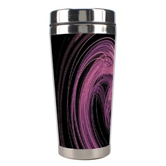 A Pink Purple Swirl Fractal And Flame Style Stainless Steel Travel Tumblers by Simbadda