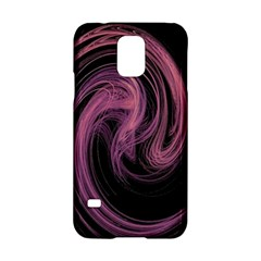 A Pink Purple Swirl Fractal And Flame Style Samsung Galaxy S5 Hardshell Case  by Simbadda