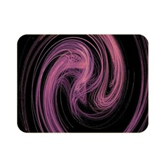 A Pink Purple Swirl Fractal And Flame Style Double Sided Flano Blanket (mini)  by Simbadda