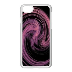 A Pink Purple Swirl Fractal And Flame Style Apple Iphone 7 Seamless Case (white) by Simbadda